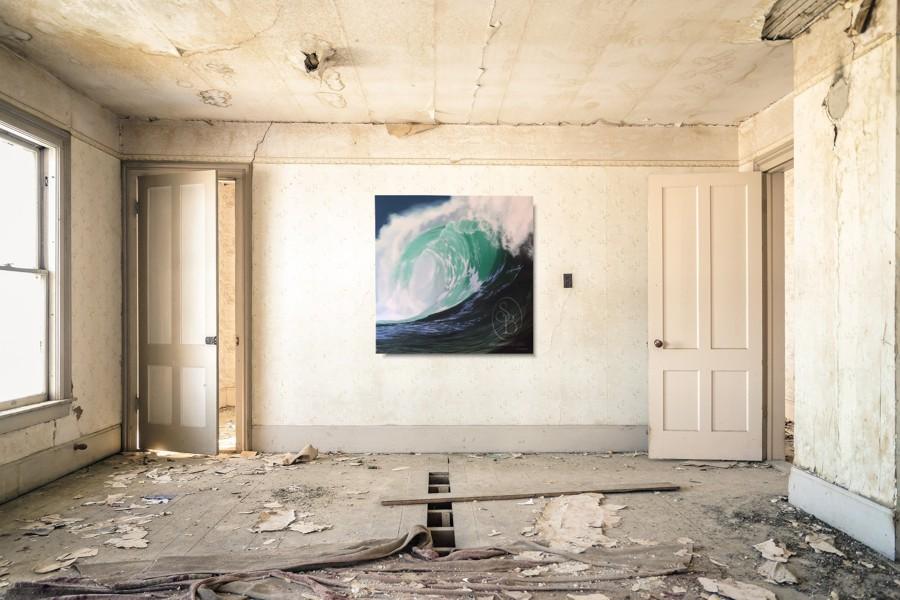 Breaker No1 by Steve Bonner - Hanging in a dilapidated room