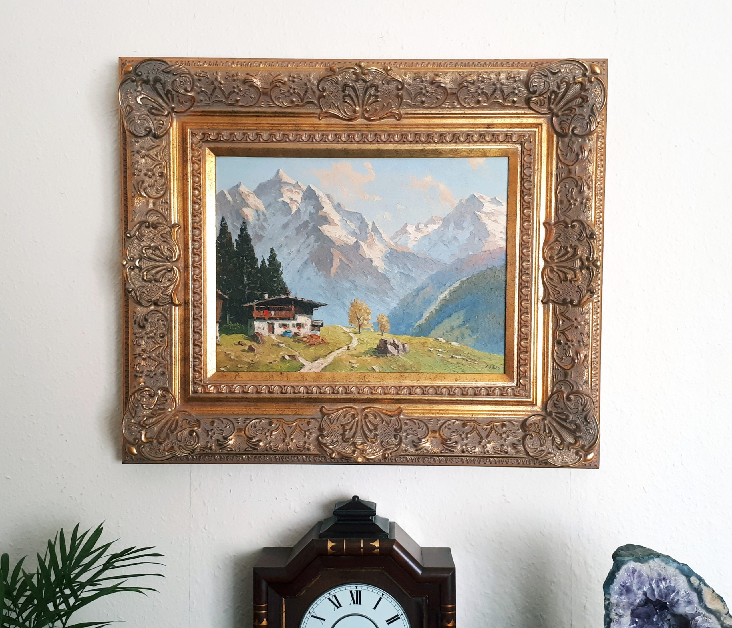 Framed Lobis painting