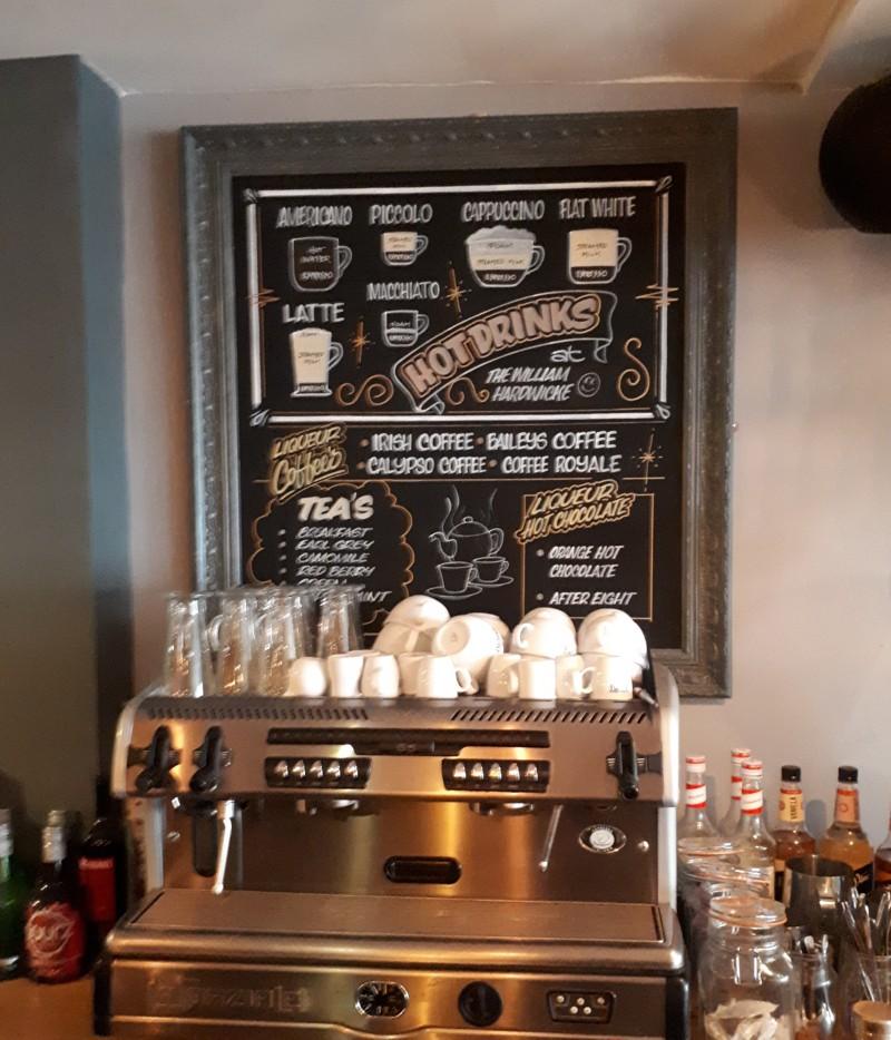 Hand written Coffee Shop Chalkboard