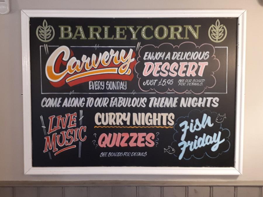 Multi Item Pub Chalkboard