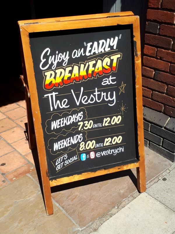 Breakfast A-board