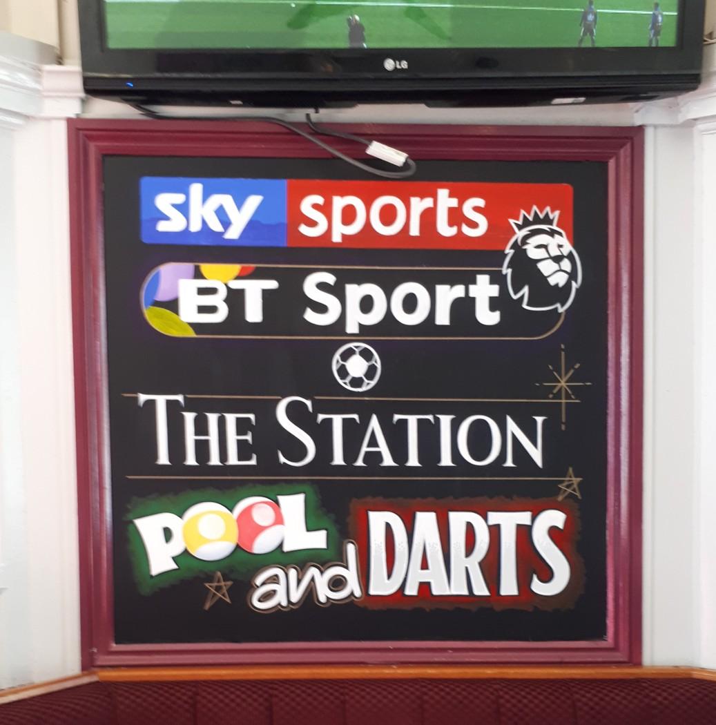Sky & BT Sports Chalkboard