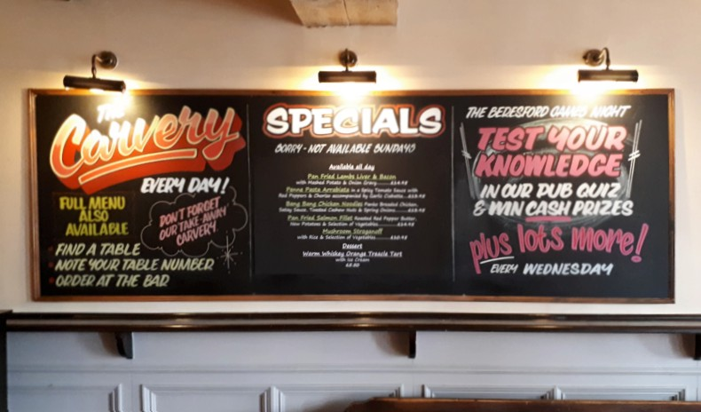 Two items and Specials Menu