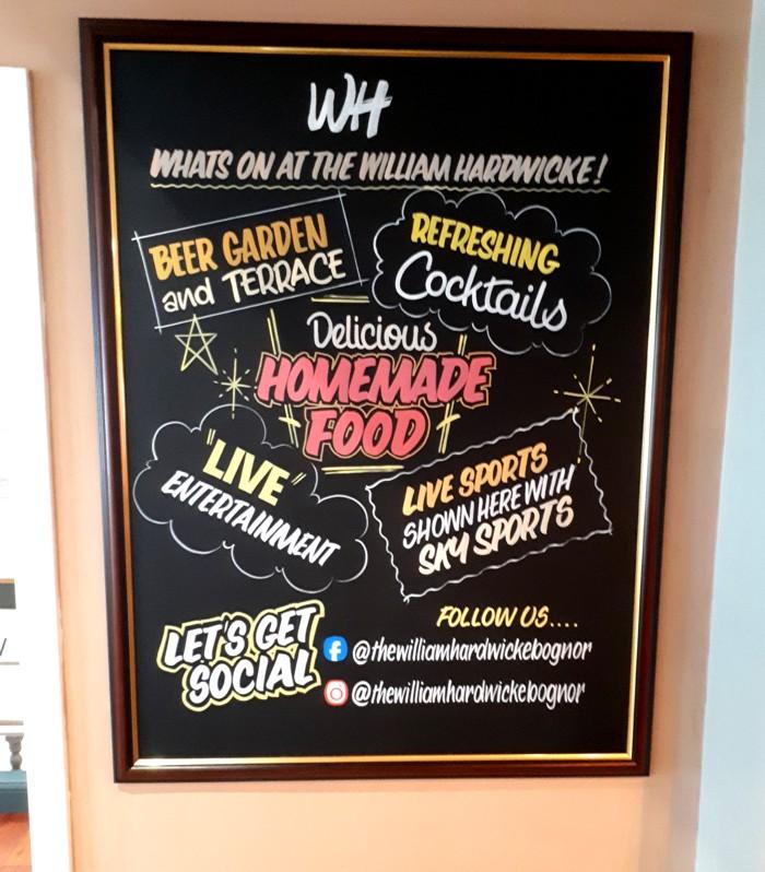 Whats On Pub Chalkboard