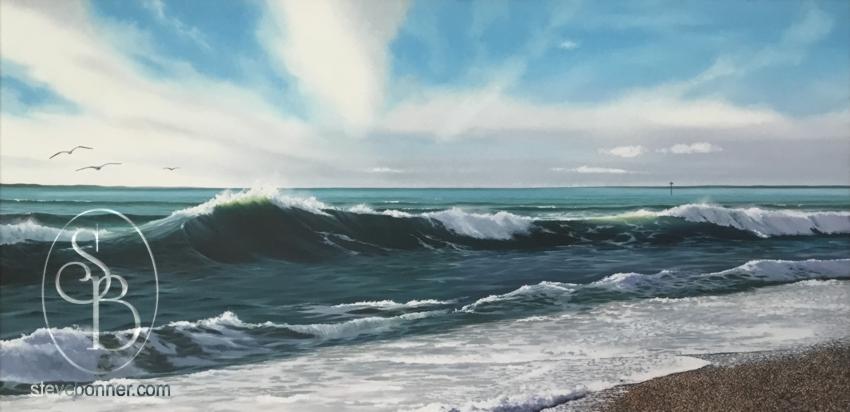 Towards Portsmouth - painting by Steve Bonner